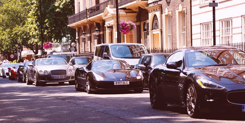 Verve Rally Supercars in London